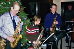 Jazzmas 2007 with Larry Boisen, Ryan Eifert, age 11, Brent Burger, band director Freemont Middle School and Frank Lestina, Fine Arts and Orchestra  Director, Vernon Hills High School