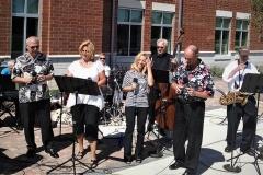 New City Hall Dedication, 9/6/14, Mundelein.  Jan's first performance with Jazz Spectrum.